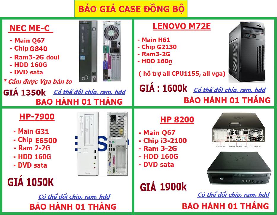 294.TÔN ĐỨC THẮNG. Case,Main.H61,945.G31.G41,AM2,AM3,Chip, Ram, HDD,Vga,nguồn CST