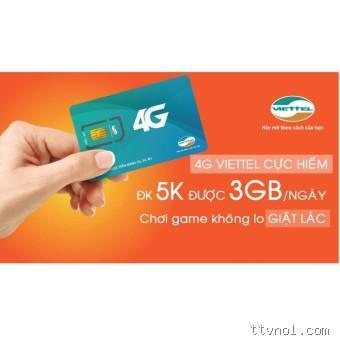 Bán Sim 4G Viettel MT5C 5k/ngày 3Gb tốc độ cao