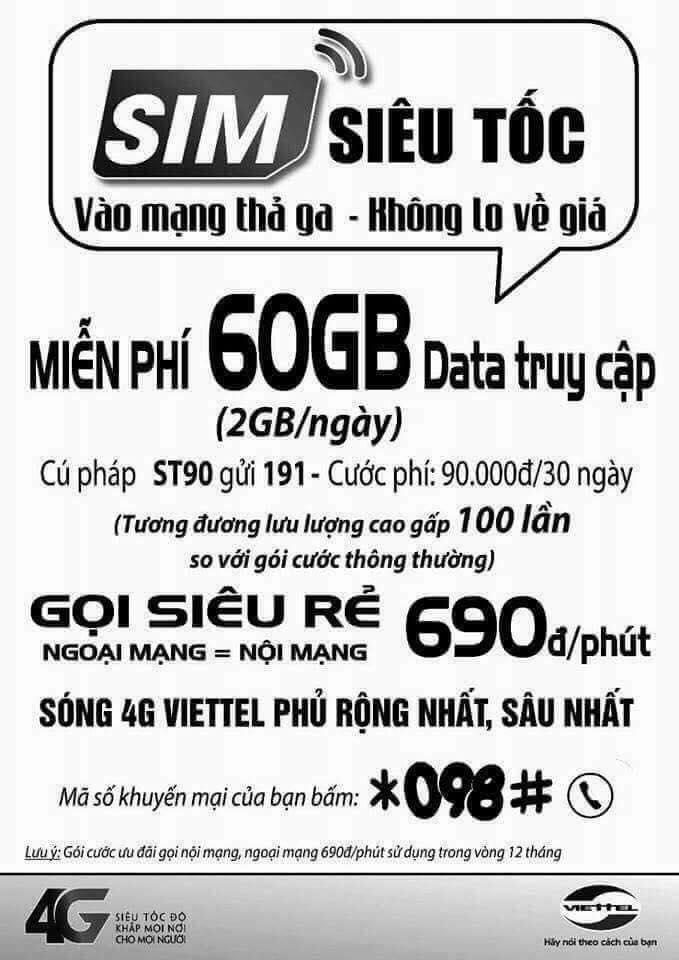 Bán Thánh sim 4G Vietnamobile - Sim 4G Mobi Vina Viettel - giá tốt nhất - nhiều ưu đãi nhất